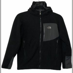 The North Face Black & Gray Fleece Jacket- Medium